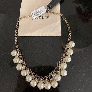 JCrew NWT Beautiful Pearl & Rhinestone Necklace